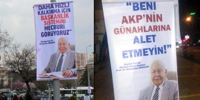 Erbakan afişlerine Kayseri'den cevap