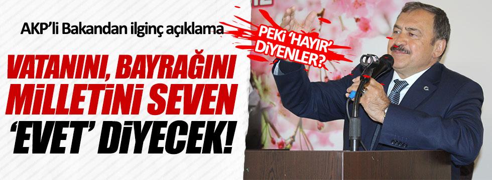 AKP'li Bakan Eroğlu'ndan 'hayır'cılara ilginç itham