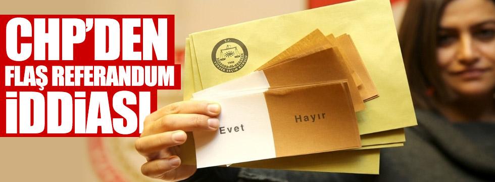 CHP'li Cankurtaran'dan flaş referandum iddiası