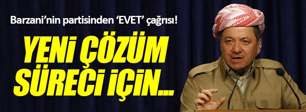 Barzani'nin partisinden 'evet' çağrısı