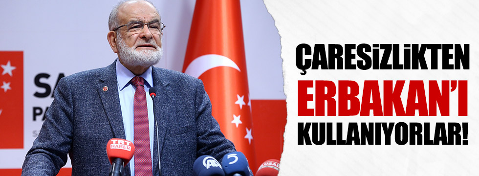 Karamollaoğlu: Erbakan'ı kullanmaları çaresizlikten!