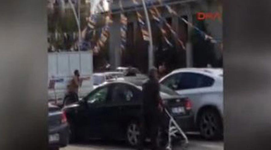 AKP Genel Merkezi önünde intihar girişimi!