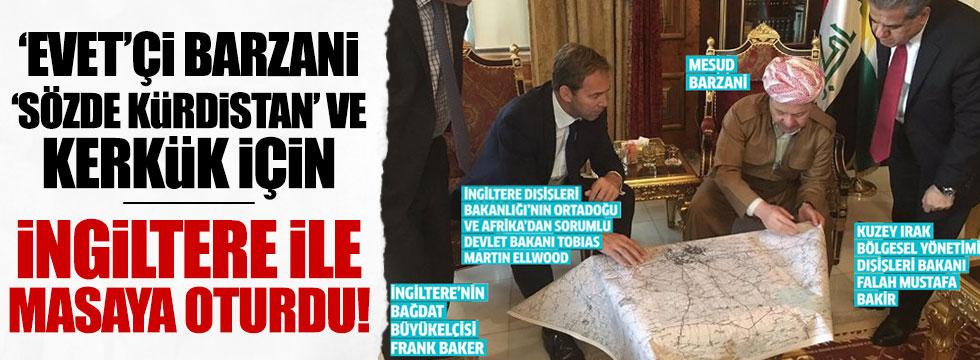 İngiliz Bakan ve Barzani harita başında