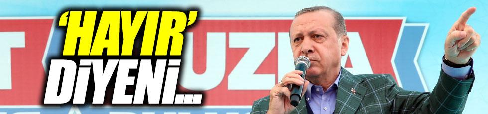 """Erdoğan: """"'hayır' diyenle 'evet'i aynı kefeye koyamam"""