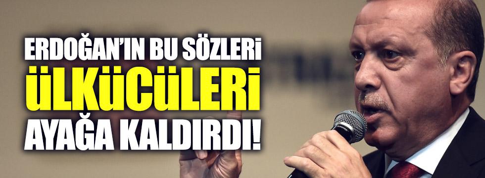 Erdoğan'ın sözleri Ülkücüleri ayağa kaldırdı