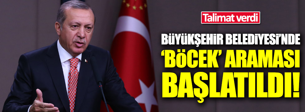 Erdoğan'ın talimatıyla Ordu Büyükşehir Belediyesi'nde 'böcek' araması