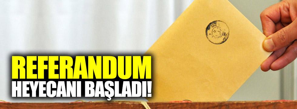 Referandum heyecanı başladı