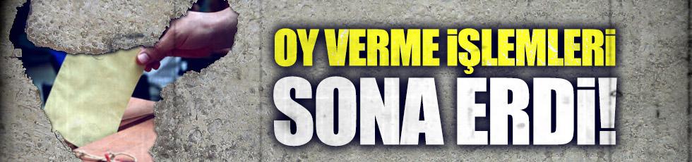 Türkiye genelinde oy verme işlemi bitti