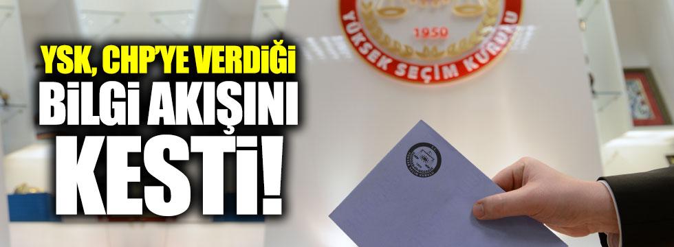 YSK, CHP'ye bilgi akışını kesti iddiası