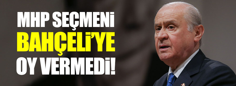 Selvi: MHP seçmeni Bahçeli'ye oy vermedi!