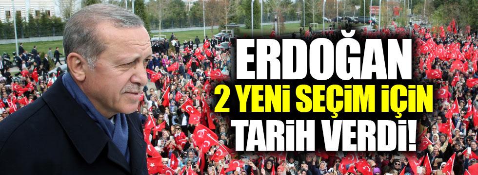 Erdoğan 2 seçim tarihi daha verdi