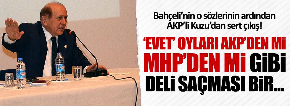 AKP'li Kuzu: Evet oylarının AKP'den mi MHP'den mi geldiğini tartışmak deli saçması