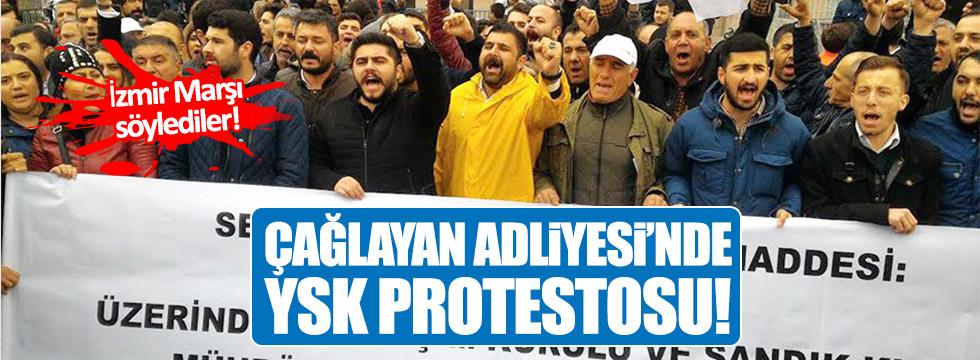 Çağlayan Adliyesi'nde YSK'ya protesto!