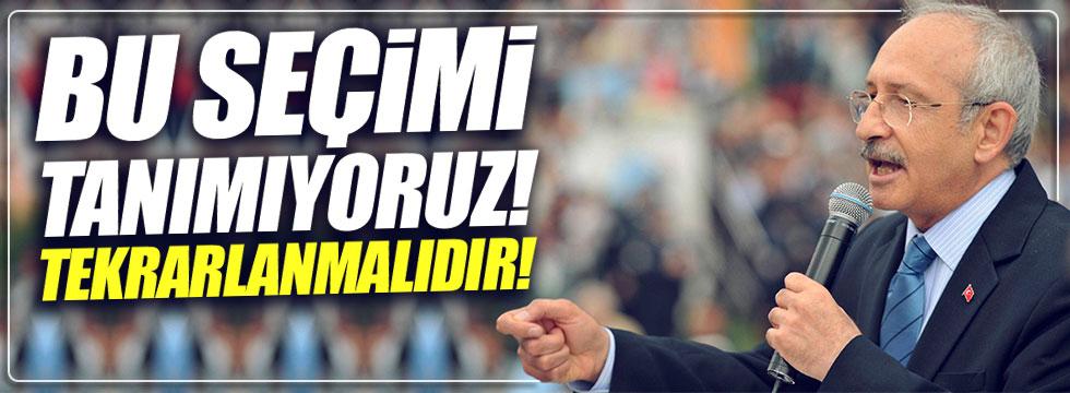 Kılıçdaroğlu: Bu seçimi tanımıyoruz!