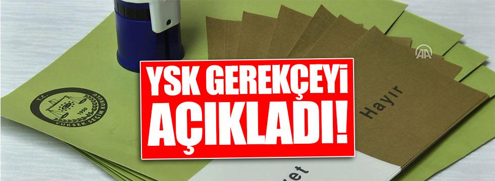 YSK mühürsüz pullarla ilgili gerekçeyi açıkladı