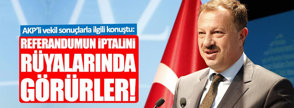 AKP'li Özel: Referandumun iptalini rüyalarında görürler!