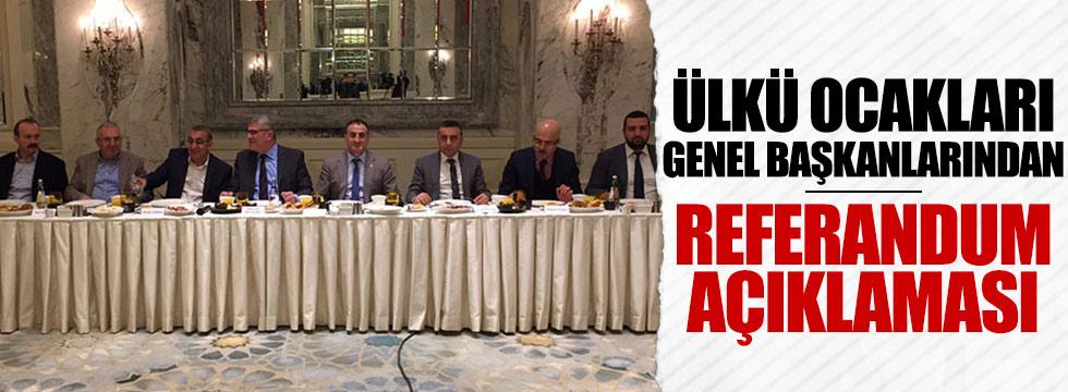 Ülkü Ocakları eski Genel Başkanlarından referandum açıklaması