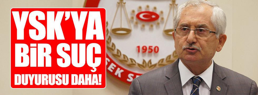 İstanbul Barosu'ndan YSK Başkanı hakkında suç duyurusu!