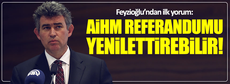 Feyzioğlu: AİHM referandumu yenilettirebilir