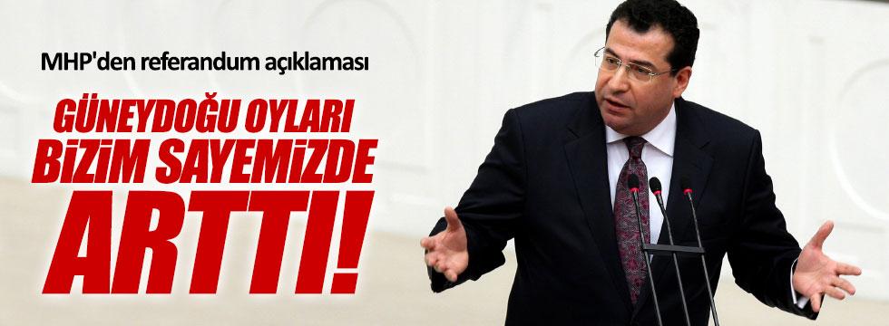 """MHP'li Tanrıkulu, """"Güneydoğu oyları bizim sayemizde arttı"""""""