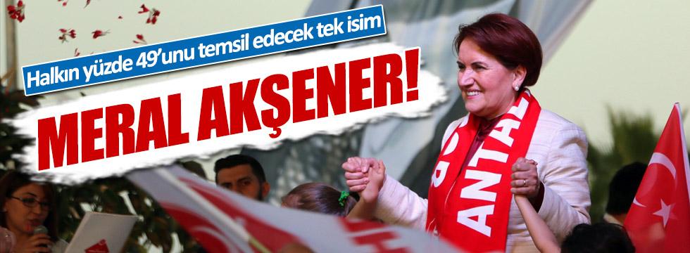 Melih Aşık: Halkın yüzde 49'unu Akşener temsil ediyor