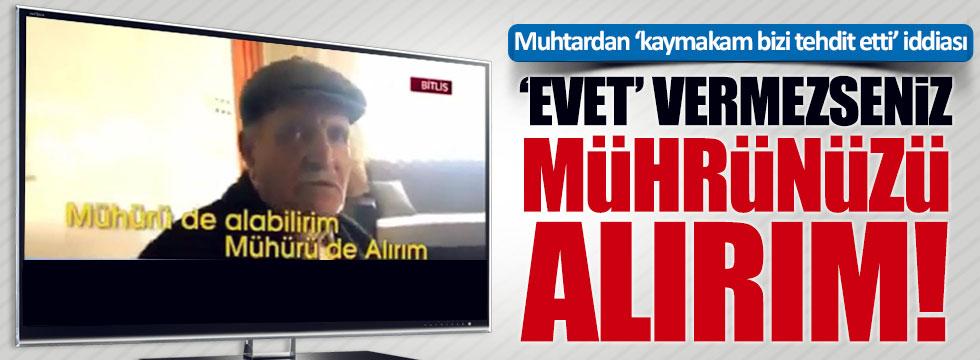 Bitlis'te şok referandum iddiası