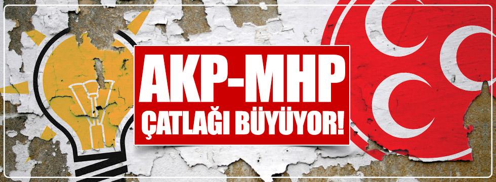 AKP-MHP çatlağı büyüyor