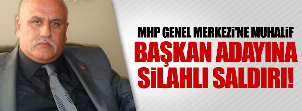 MHP Genel Merkezi'ne muhalif adaya silahlı saldırı!
