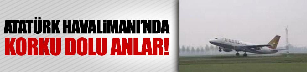 Yolcu uçağı, Atatürk Havalimanı'nda toprağa çakıldı
