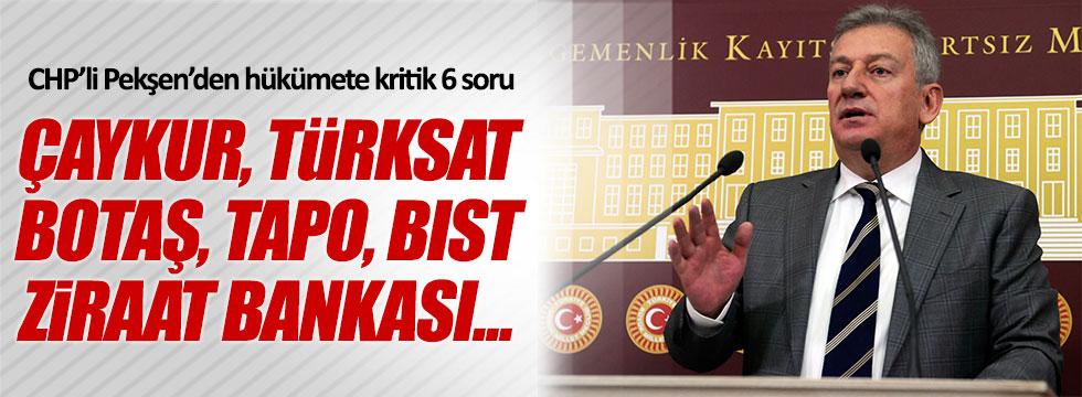 CHP'li Haluk Pekşen'den hükümete 6 soru