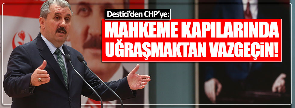 Destici'den YSK kararını yargıya taşıyan CHP'ye tepki