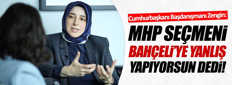 MHP seçmeni Bahçeli'ye yanlış yapıyorsun dedi!