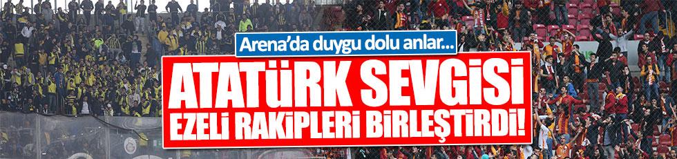 Atatürk sevgisi Fenerbahçe ve Galatasaraylı taraftarları böyle birleştirdi