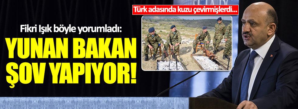 """Yunanlar Türk adasında kuzu çevirdi, Bakan Işık """"şov yapıyorlar"""" dedi"""