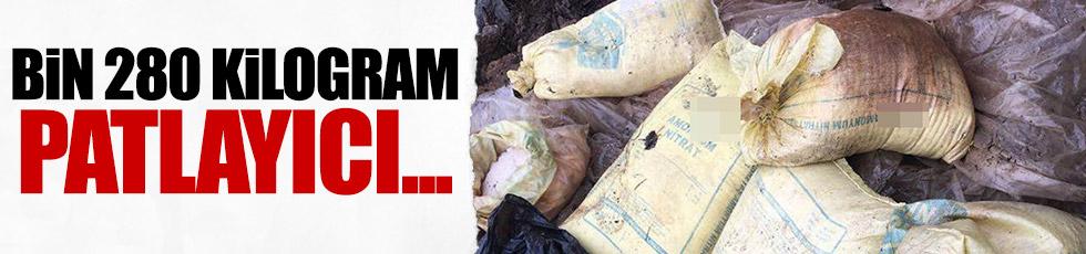1 ton 280 kilo bomba malzemesi ele geçirildi