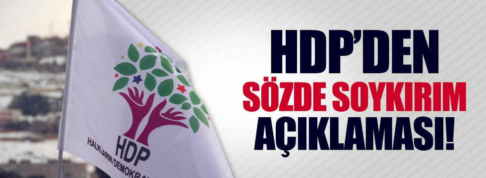 HDP'den sözde soykırım açıklaması