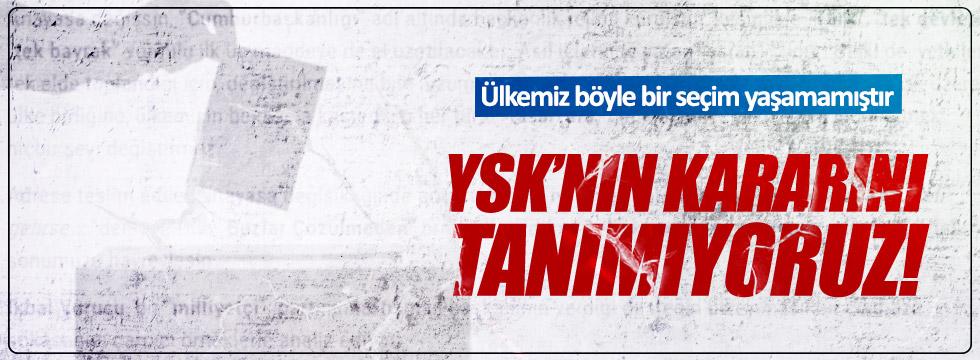 """CHP'li Arslan: """"Böyle bir seçim olamaz, tanımıyoruz"""""""