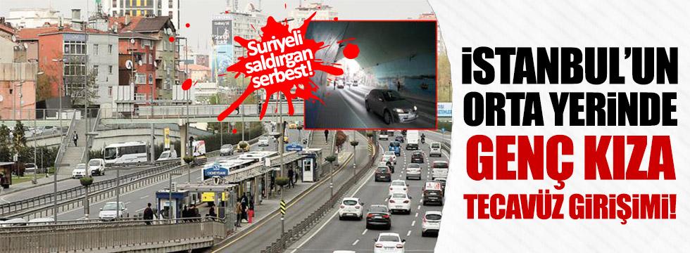 İstanbul'un orta yerinde genç kıza tecacüz girişimi!