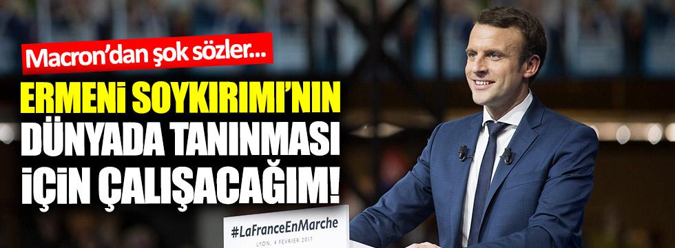 Macron: Ermeni Soykırımı'nın dünyada tanınması için çalışacağım!