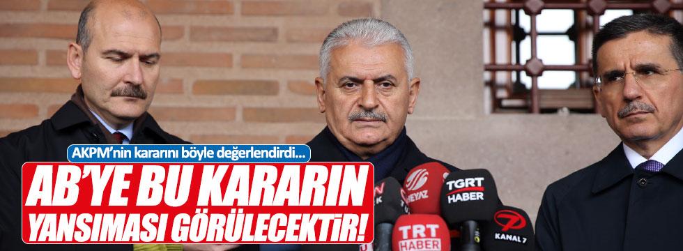 Yıldırım'dan AKPM'nin kararına tepki