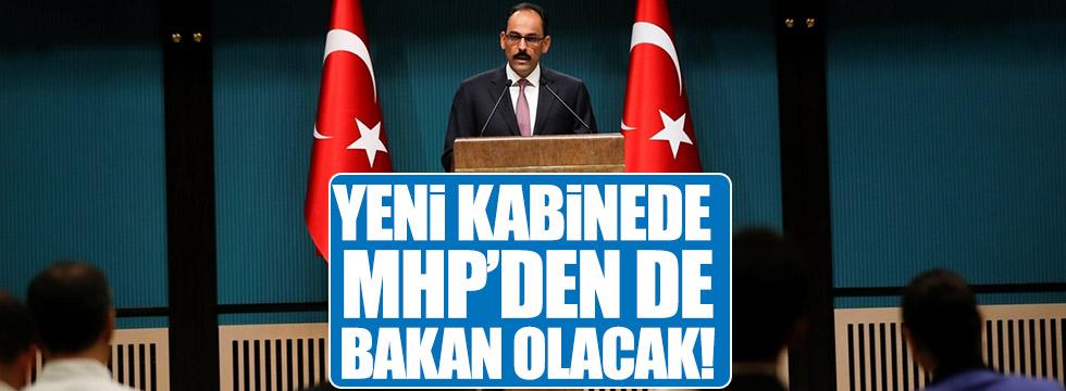 Yeni kabinede MHP'li bakanlar da olacak