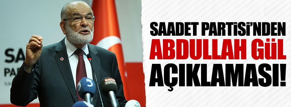 Abdullah Gül, Saadet Partisi'ne mi katılacak?