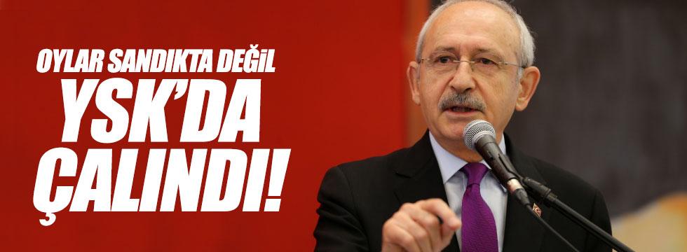 """Kılıçdaroğlu: """"Oylar sandıkta değil YSK'da çalındı"""""""