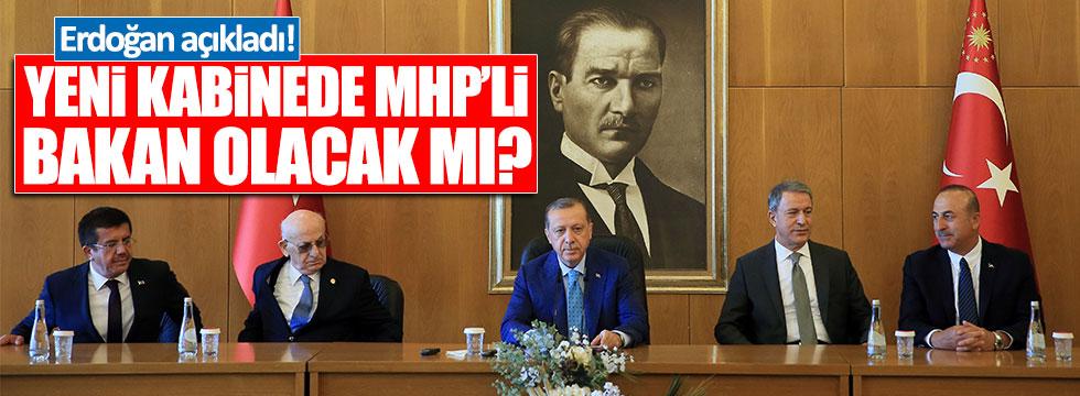 Kabinede MHP'li Bakan olacak mı?