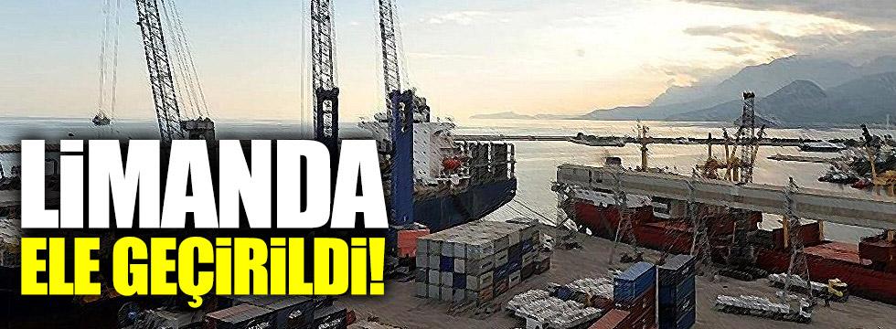 Zonguldak Limanı'nda operasyon: 2 antitank füzesi ele geçirildi