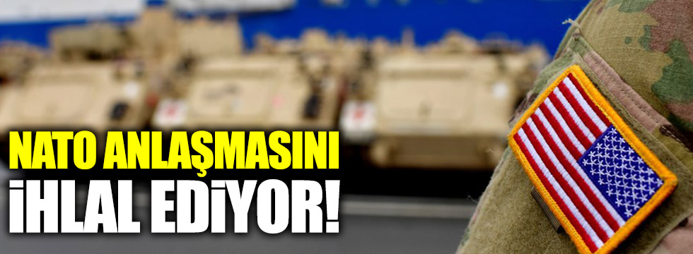 ABD, PYD/PKK ortaklığıyla NATO anlaşmasını ihlal ediyor!
