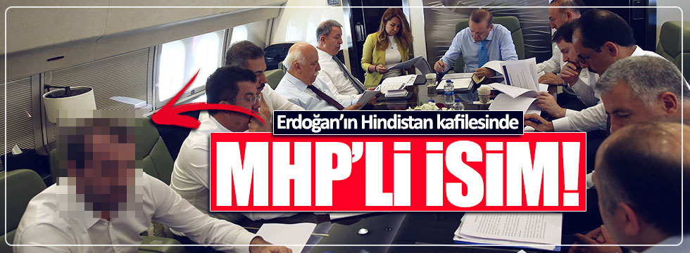 MHP'li Saffet Sancaklı, Erdoğan'la Hindistan'a gitti