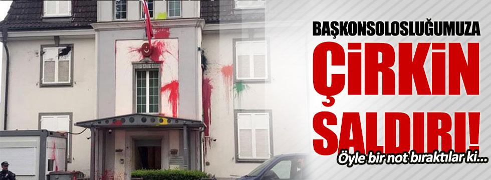 İsviçre'de Türk Başkonsolosluğu'na saldırı