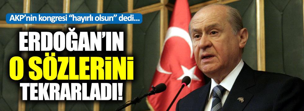"""Bahçeli: """"AKP'nin kongresi hayırlı olsun"""""""
