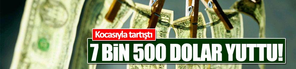 Kocasıyla tartışan kadın 7 bin 500 dolar yuttu